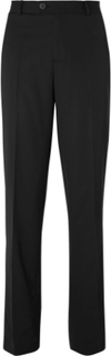 Black Virgin Wool Trousers - Black
