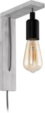EGLO Vägglampa LED Tocopilla vit-patina