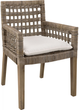 CLEVELAND Dining armchair, Seatcushion nature
