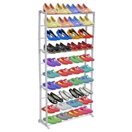 vidaXL 10-kerroksinen kenkäteline/hylly
