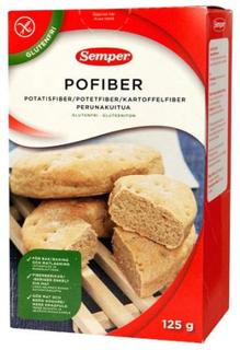 Semper Pofiber glutenfri kartoffelfiber, 125g.