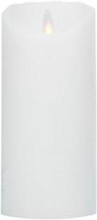 LeveLys LED Stearinlys Ø hvid frostet 8x18cm