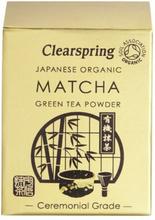 Matcha grøn te pulver Clearspring (ceremonial grade) Ø, 30g.