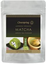 Matcha grøn te pulver Clearspring (premium grade) Ø, 40g.