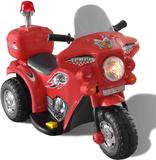 Batteridriven körbar leksaksmotorcykel röd