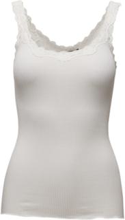 Silk Top Regular W/Rev Vintage Lace T-shirts & Tops Sleeveless Hvit ROSEMUNDE