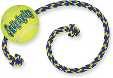 Kong Air Squeaker Tennis Ball w. rope, Medium