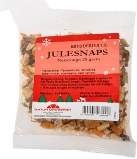 Krydderier til julesnaps med juleetiket, 25 g
