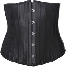 26 Steel Bone Black Damask Corset
