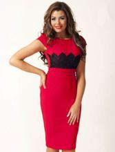 Röd Ivy Lace Dress