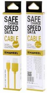 Haweel hårdføre Micro USB til USB kabel i farver Gul