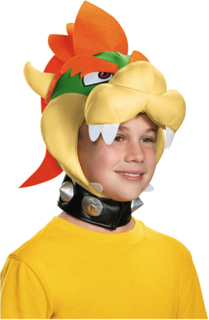 Bowser huvudbonad från Nintendo® för barn One-Size