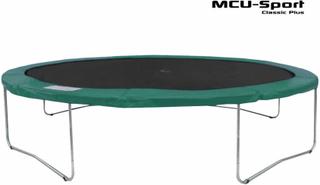 MCU-Sport Classic Plus 3,7m Trampolin Grøn