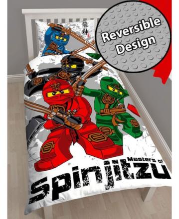 Lego Ninjago Kriger V2 Sengetøj 2i1 design - Only4kids