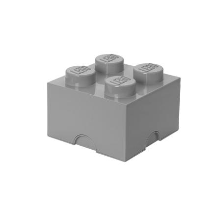 Lego Klods til opbevaring Stengrå - Only4kids