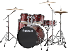 Yamaha Rydeen Studio Drumset - with stands and cymbals - Burgundy Glitter