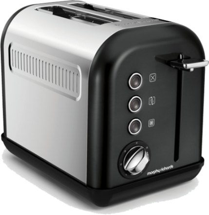 Morphy Richards Accents 2-slice Black. 2 stk. på lager