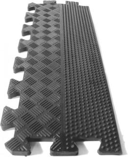 Ramp-kant (Svart) till Pusselmatta (8mm) Friviktsgolv Jordan