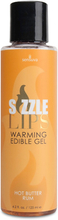 Sensuva - Sizzle Lips Butter Rum Warming Edible Gel 125 ml