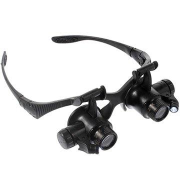 LED forstørrelsesbriller med flere linser 9892G - 10X, 15X, 20X, 25X