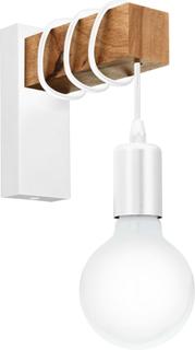 EGLO væglampe Townshend 1 pære træ hvid og beige