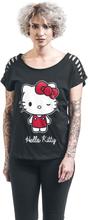 Hello Kitty - Schleife -T-skjorte - svart