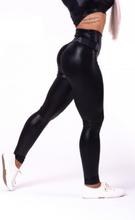 """High waist """"Sandra D"""" glossy leggings 656"""