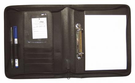 Dokumentmappe m/2 ringe sort A5 TR2052