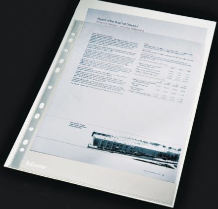 Plastlomme Esselte A4 0,105mm glasklar 100stk/pak - Engsig.dk