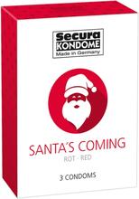 Santa is Coming - Rødt Jule Kondom