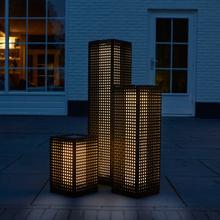 Luxform Trädgårdslampa solcell LED golv Martinique svart 25 cm 30040