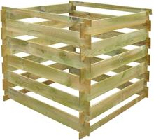 vidaXL Kompostbehållare 0,54 m3 fyrkantig FSC-trä