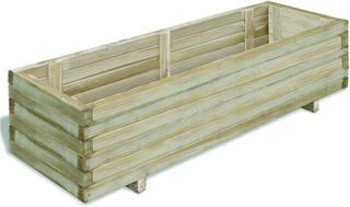 vidaXL Odlingslåda 120x40x30 cm FSC-trä rektangulär