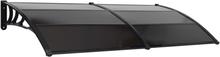 vidaXL Entrétak svart 240x100 cm plast