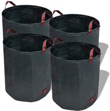 vidaXL Have Affaldsposer Grøn 4 stk 120 L 150 g / kvm