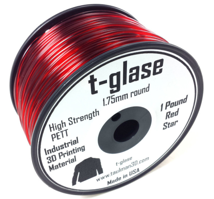 Taulman t-glase PETT Röd 1.75mm filament