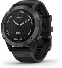 Garmin Fenix 6 Sapphire Gray W/Black Band Gps Watch