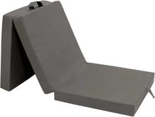 vidaXL Tredelad skummadrass 190 x 70 x 9 cm grå