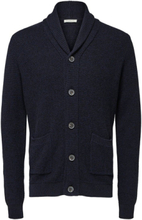 SELECTED Shawl Neck - Knitted Cardigan Men Blue