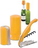 Startset för Champagne & vin, gul, 3 delar - Pullt