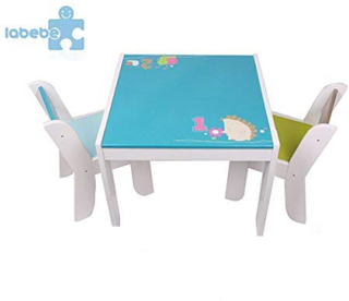 Labebe Game- From 1-5 Years, Child Table Game / Blue Desk Chair / Girl Table / Girl Desk Chair / Desk Furniture