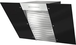 Miele DA 6086 W sort intern - NER væghængt emhætte