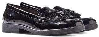 Geox JR Agata Black Patent Tassle Loafers 33 (UK 1)