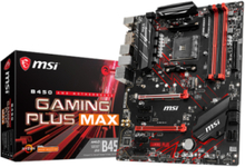B450 GAMING PLUS MAX Hovedkort - AMD B450 - AMD AM4 socket - DDR4 RAM - ATX