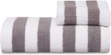 Zebra Collection Handduk Stripe Stor- Antracit