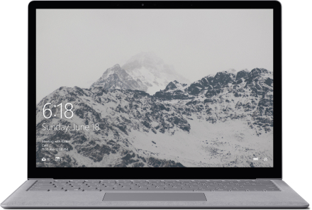 Surface Laptop – 256 Gt / Intel Core i5 / 8 Gt RAM (platina)