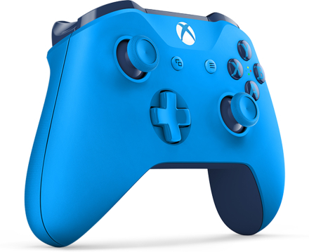 Sininen langaton Xbox-ohjain