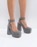 ASOS PICASSO Platform Heels - Grey