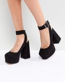 ASOS PICASSO Platform Heels - Black