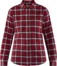Övik Flannel W LS Shirt Deep red L